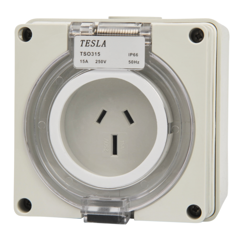 3 Pin 15 Amp Female Socket Outlet Ip66 Single Phase