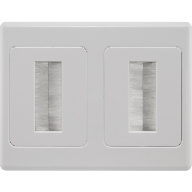 Brush Design For Wall : Brush wall double plate in cable management clipsal