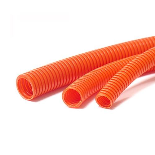 Corrugated Conduit 20mm X 50mtr Roll Flexible Orange