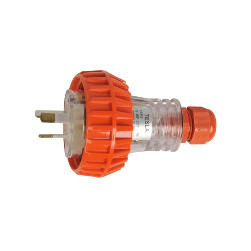 15 Amp 3 Pin Flat Industrial Electrical Captive Plug Ip66