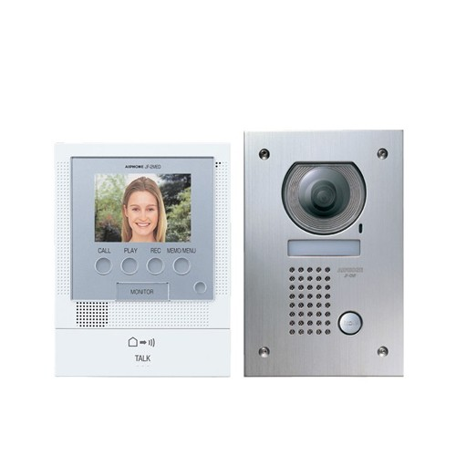 Front Door Intercoms: Aiphone JF-2MED Front Door Video Intercom With Flush Mount