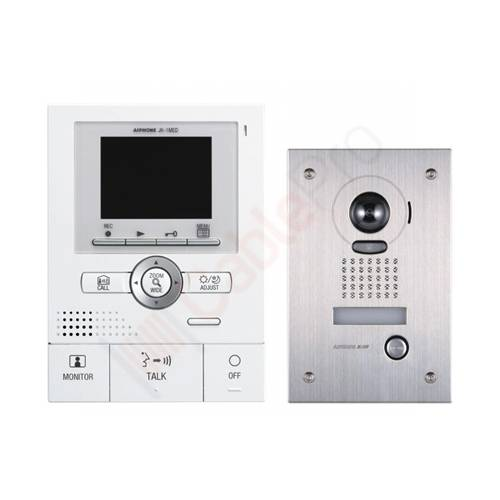Front Door Intercoms: Aiphone JK-1MED Front Door Video Intercom With Flush Mount