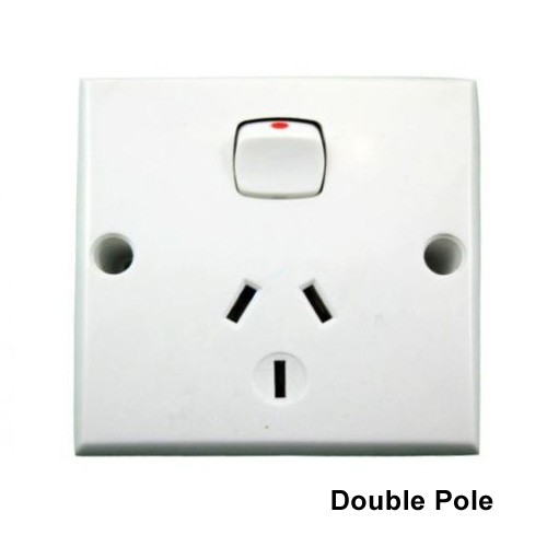 Single Power Point DEEP Double Pole 10 Amp GPO Outlet Caravan RV Trailer  Construction