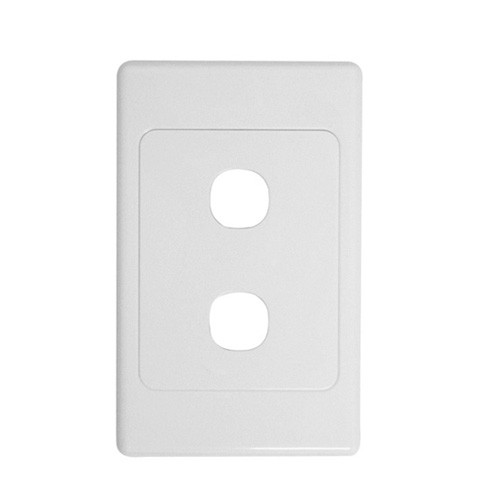 2 Gang Wall Plate Clipsal Style Cable Pro